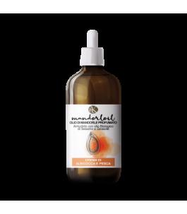 Bio huile d'Amande Parfumée à la Crème d'Abricot et de Pêche - Alkemilla|YumiBio