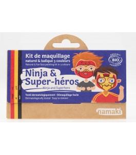 Kit Trucco per Bambini - Ninja e Supereroe - Namaki|Yumibio