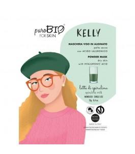 Masque pour le visage Kelly décoller la Peau Sèche - Lait-de-la Spiruline - Purobio  Yumibio