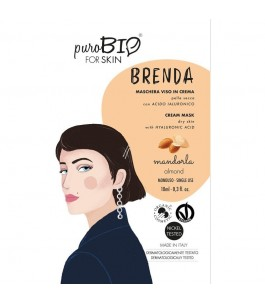 Brenda Face Mask For Dry Skin - Almond - Purobio| Yumibio