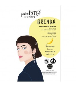 Brenda Maschera Viso Pelle Secca - Banana - Purobio| Yumibio