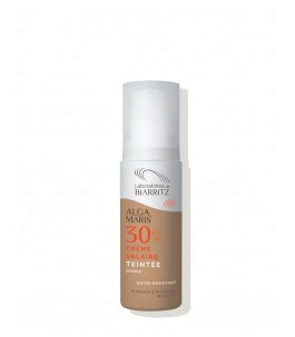 Soleil de Couleur crème pour le Visage SPF 30 - Doré - Algues Maris Laboratoires de Biarritz| Yumibio