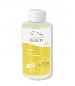 L'huile de monoï Bio - Fleurs de Tiaré - Laboratoires de Biarritz| Yumibio