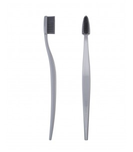 Biodegradable toothbrush - Grey-Adult - Berlin BioBrush| Yumibio