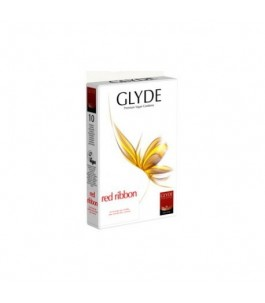 Condoms Vegan - Red Ribbon - Glyde |Yumibio