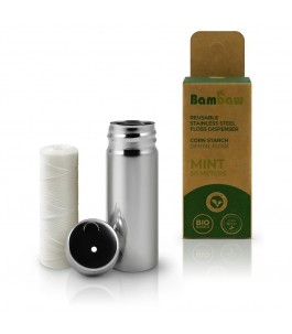 La soie de Maïs avec Distributeur de savon en Acier inoxydable - Bambaw|Yumibio