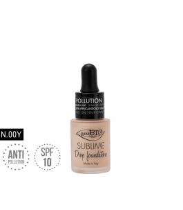 Fondotinta Liquido biologico Sublime Drop 00 Y - PuroBio Cosmetics | Yumi Bio