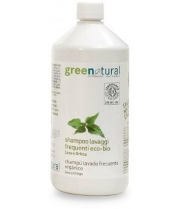 Shampoo Frequent Washing Linen and Nettle 1 LT - Green-Natural   Yumibio
