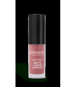 Rouge À Lèvres Liquide De Rose, Bois De Rose Romance - Benecos | Yumibio
