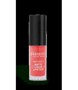 Lipstick Liquid Coral - Coral Kiss - Benecos | Yumibio