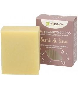 Shampoo Solido Semi Lino - La Saponaria|YumiBio