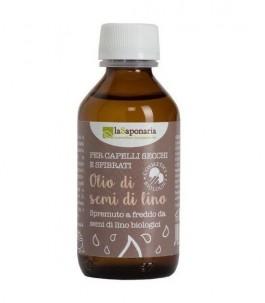 Olio di Semi di Lino Bio per Capelli Secchi - La Saponaria | YumiBio