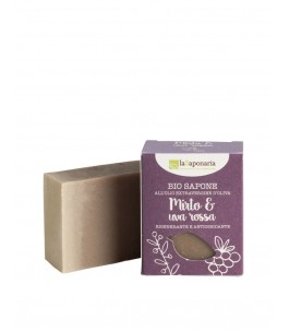 Bio soap, anti-aging Myrtle and Red Grapes - The Saponaria   YumiBio