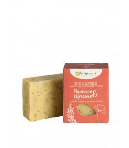 Bio soap scrubbing effect Poppy and Cypress - The Saponaria   YumiBio