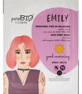 Maschera Viso in Cellulosa per Pelle Secca - Good Morning - Purobio| Yumibio