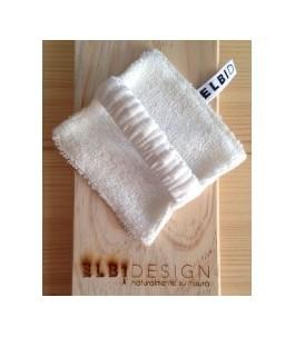Pad Exfoliating Bamboo and Natural Fiber with Elastic - ElbiDesign | Yumibio