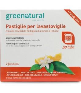 Pastiglie Lavastoviglie Biodegradabile Arancio Limone - Green Natural | Yumibio
