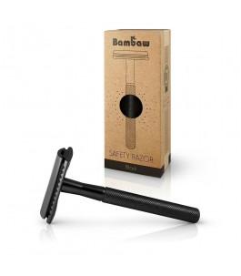 Safety razor in Metal - Black - Bambaw   Yumibio