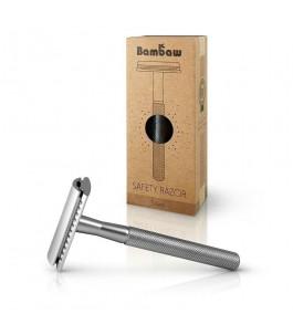 Safety razor in Metal - Silver - Bambaw   Yumibio