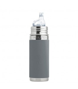 Bottle stainless steel Thermal 260 ml - Grey - Pure | Yumibio