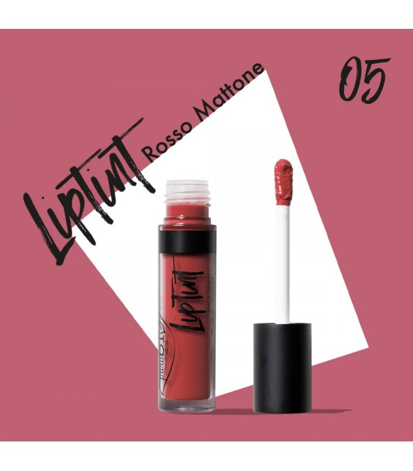 Tinta labbra tonalità 05 - Rosso Mattone - Purobio Cosmetics | Yumibio