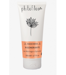 Regenerating mask for Hair with Moringa and Spirulina - Phitofilos|Yumibio
