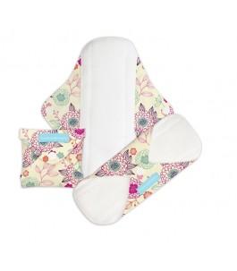 Absorbent Washable Peony Blossom - set of 3 pieces - Charlie Banana | Yumibio