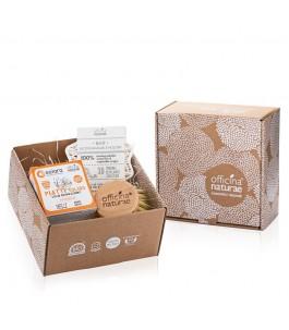 Gift Box Piatti Solido Menta - Arancio - Officina Naturae   Yumibio