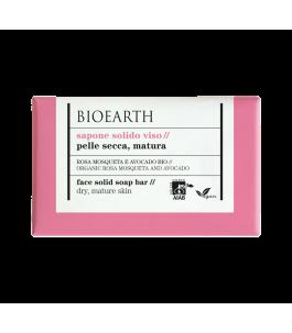 Solid face soap - Rosa Mosqueta and Avocado-Bioearth | Yumibio