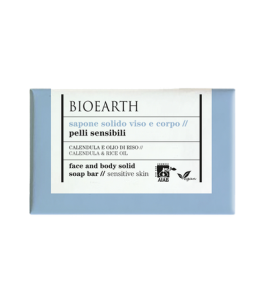Solid face and Body Soap-Calendula and rice oil-Bioearth | Yumibio