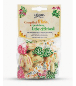 Honey and medicinal herbs candies in bag - candies Leone | Yumibio