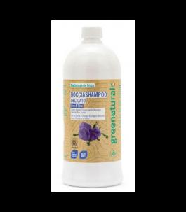 Doccia Shampoo Lino e Proteine del Riso 1 LT  - Green Natural | Yumibio