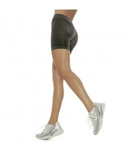 Anti-Cellulite Micro-Massage Shorts Black-Solidea | Yumibio