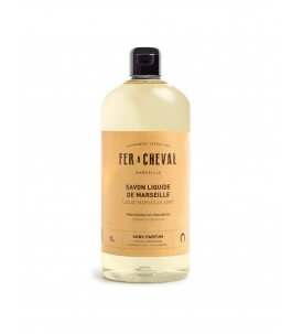 Marseille liquid soap without perfume 1 LT - Fer à Cheval | Yumibio