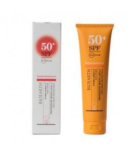 La crème solaire SPF 50+...