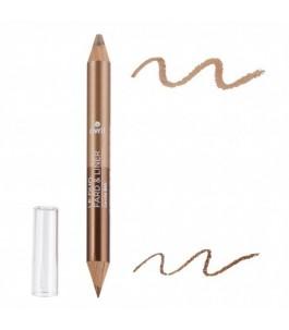 Crayon Duo De Fard À Paupières Bronze Cuivre + Beige Doré