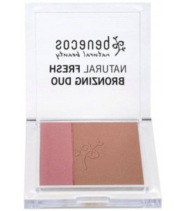 Poudre bronzante-Vegan, brun chaud et des nuances de rose