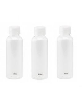 3 Flacons de 100 ml de Remplissage pour les Voyages