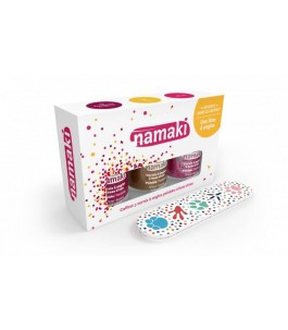 Box set with 3 Enamels based on aqueous - Strawberry, Gold, Fuchsia