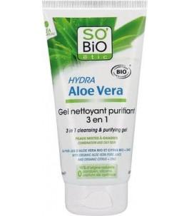 Gel purifying the aloe 3 in 1